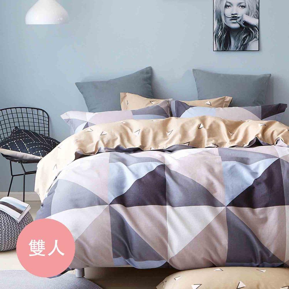 PureOne - 極致純棉寢具組-回憶空間-雙人四件式床包被套組