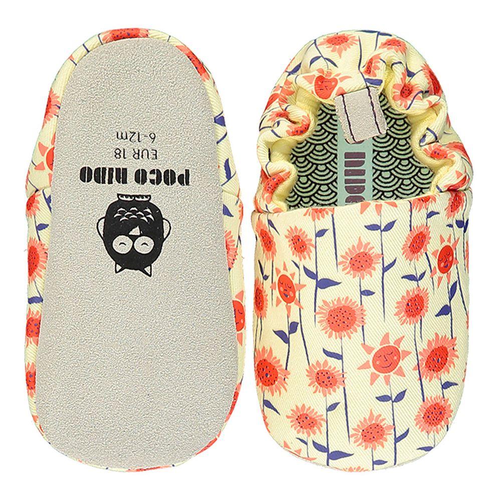 英國 Poconido - 寶寶手工鞋/學步鞋-盛開向日葵
