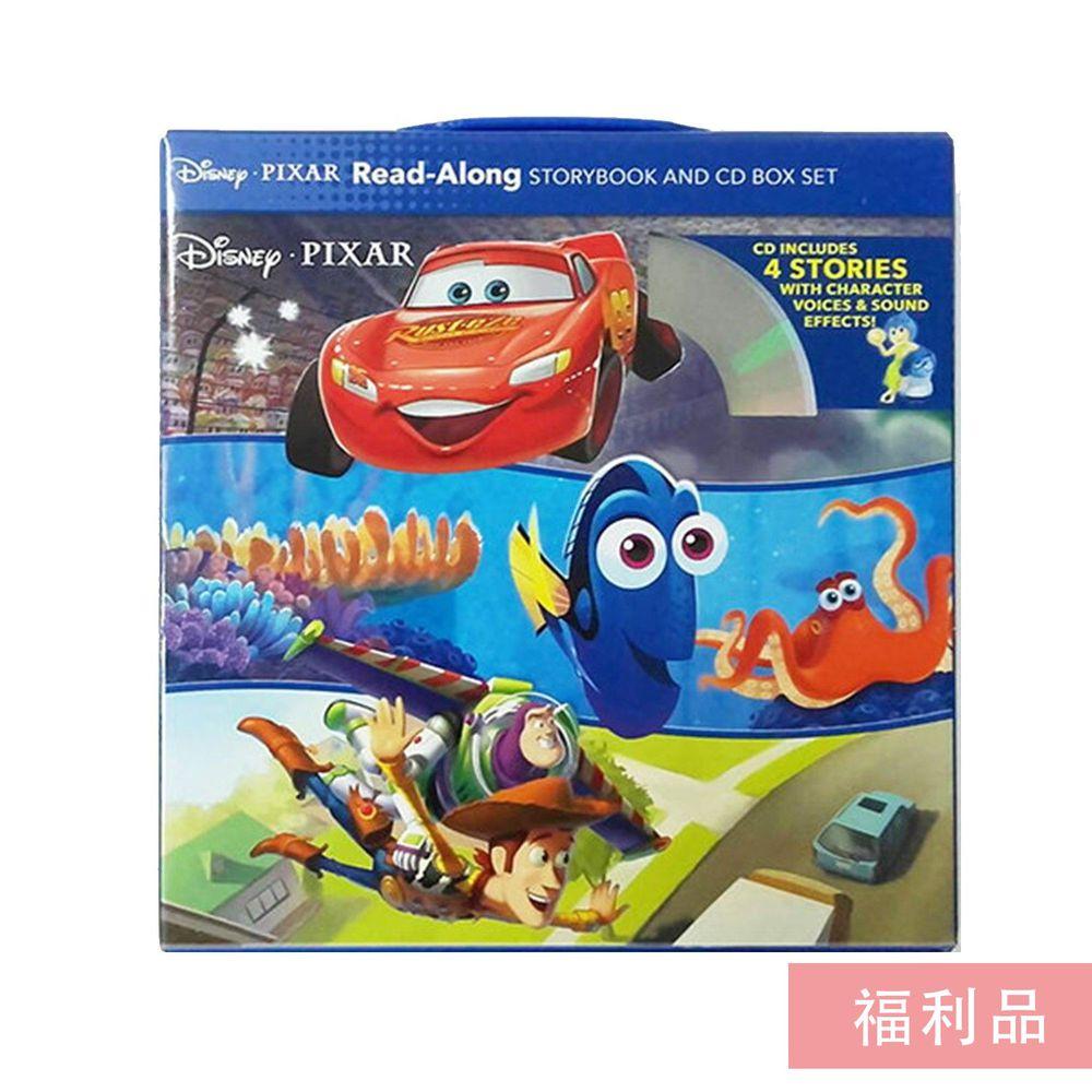 【福利品】迪士尼系列CD有聲書-Disney‧Pixar Read-Along Storybook and CD Box Set迪士尼皮克斯CD有聲套書