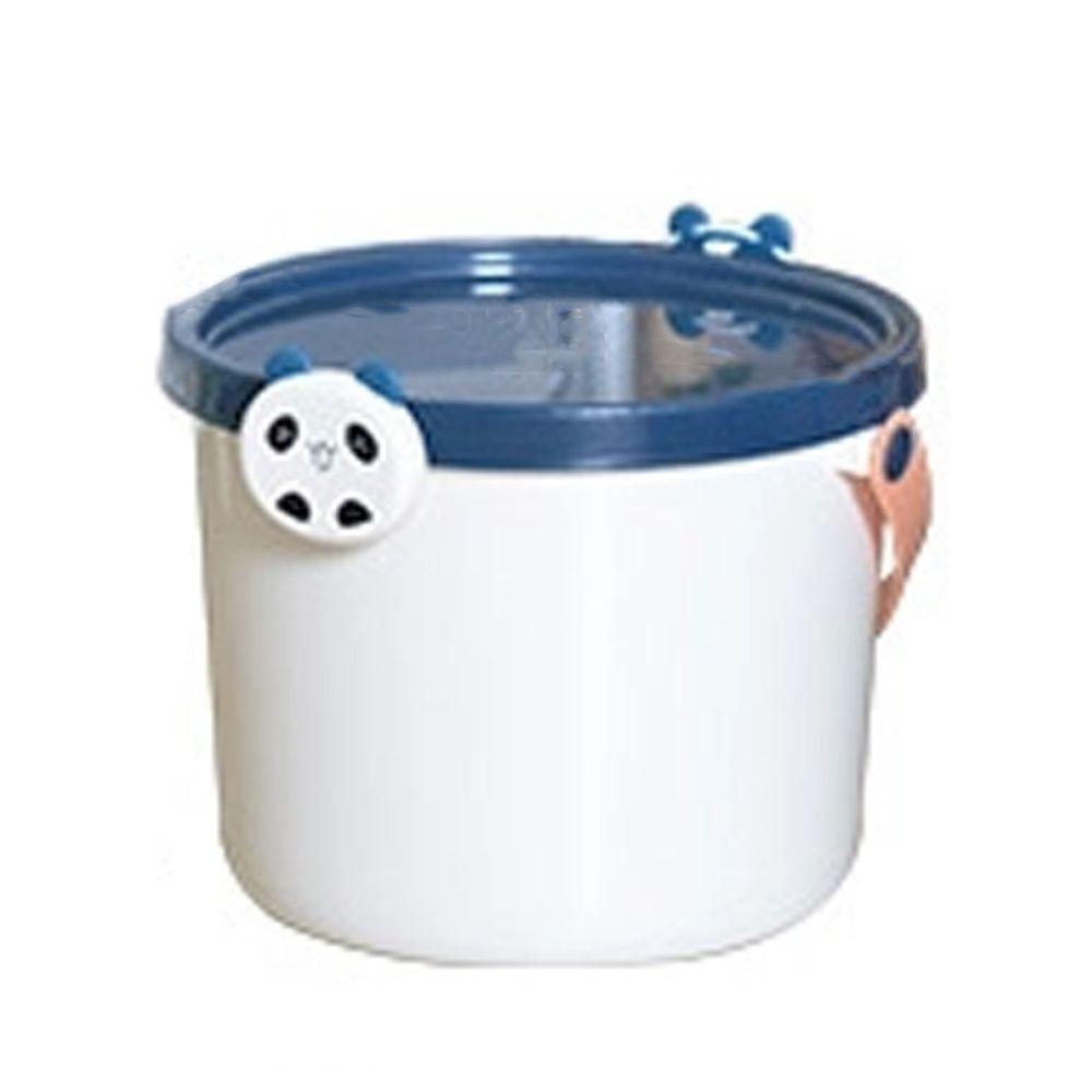 家窩 - 動物造型卡扣戲水/玩具收納桶附蓋-大-3入-熊貓