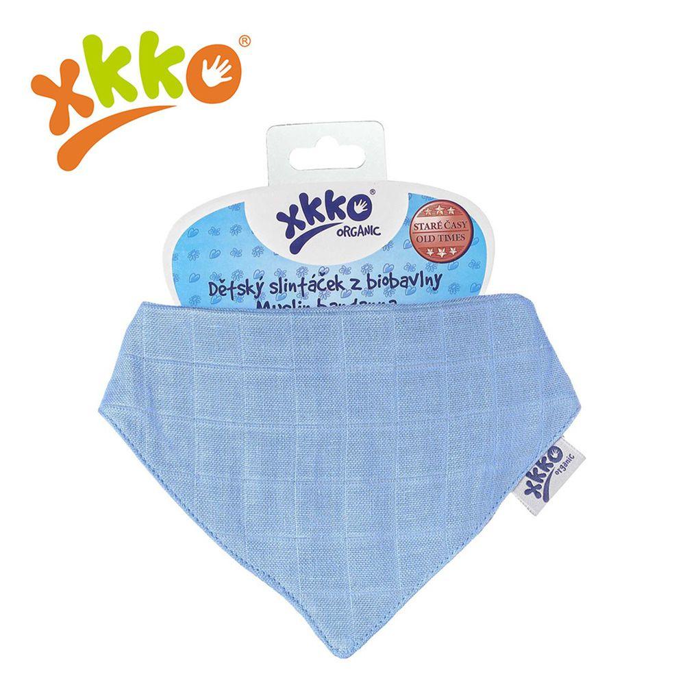 XKKO - 有機棉紗布口水巾-深藍色