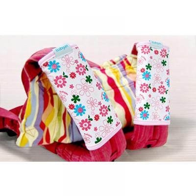 100%純棉背巾口水巾(薄款)-百花綻放-兩側