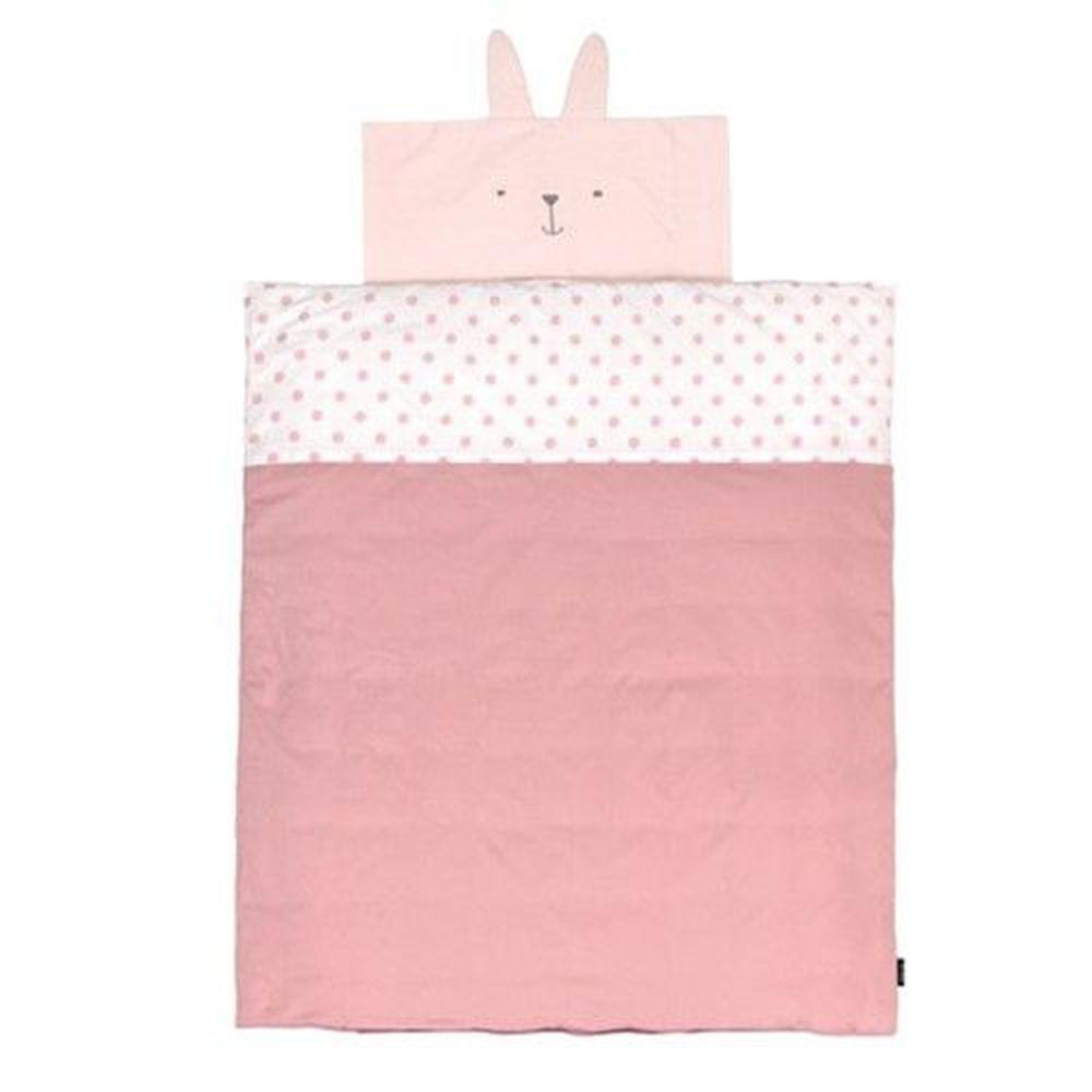 韓國 Conitale - 純棉兒童睡袋(防蟎抗菌枕頭)-點點小兔-(附防塵袋1, 超細纖維枕頭1)