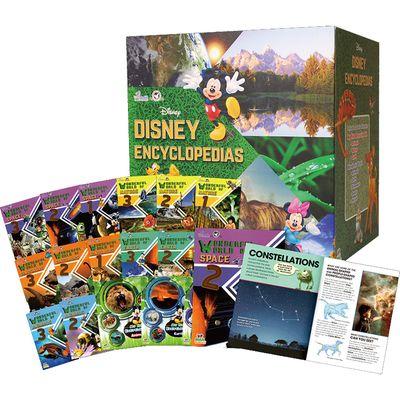 迪士尼探索世界百科全書套裝(英文版18冊+迪士尼收納盒)