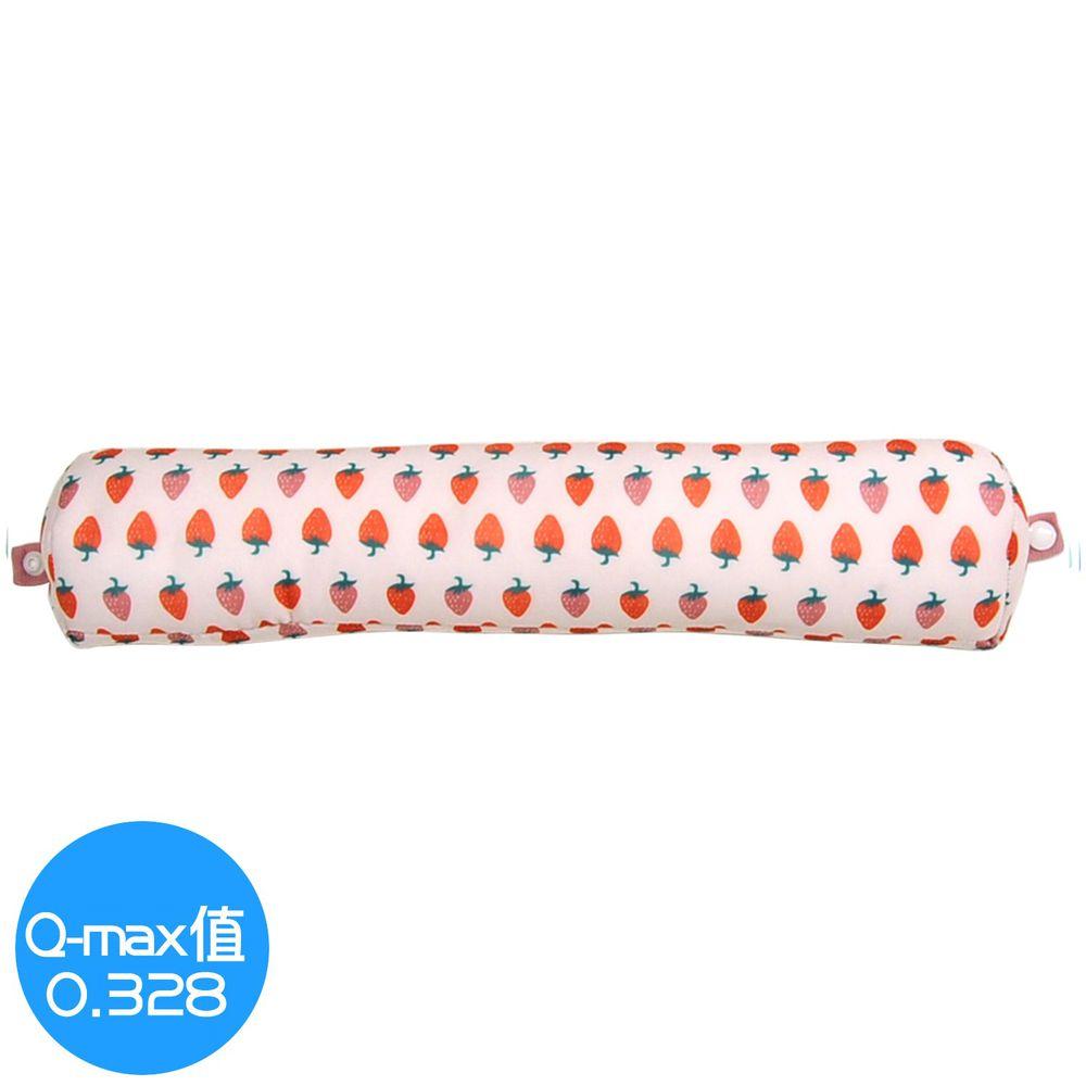 日本 DAIKAI - 接觸涼感U型午睡枕/電腦靠手枕(附釦)-香甜草莓-粉紅 (40x8.5cm)