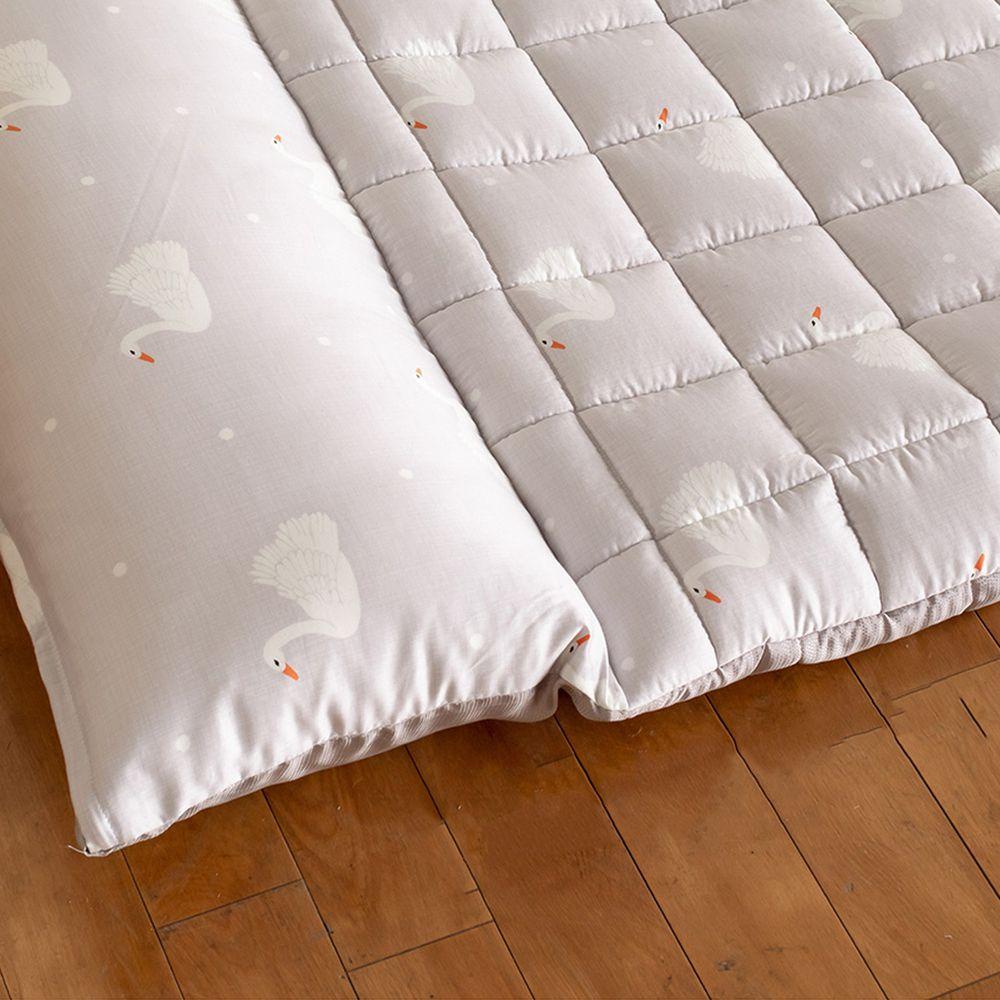 韓國 Formongde - 莫代爾5cm厚墊雙面用睡袋/寢具(附收納袋)-灰色天鵝