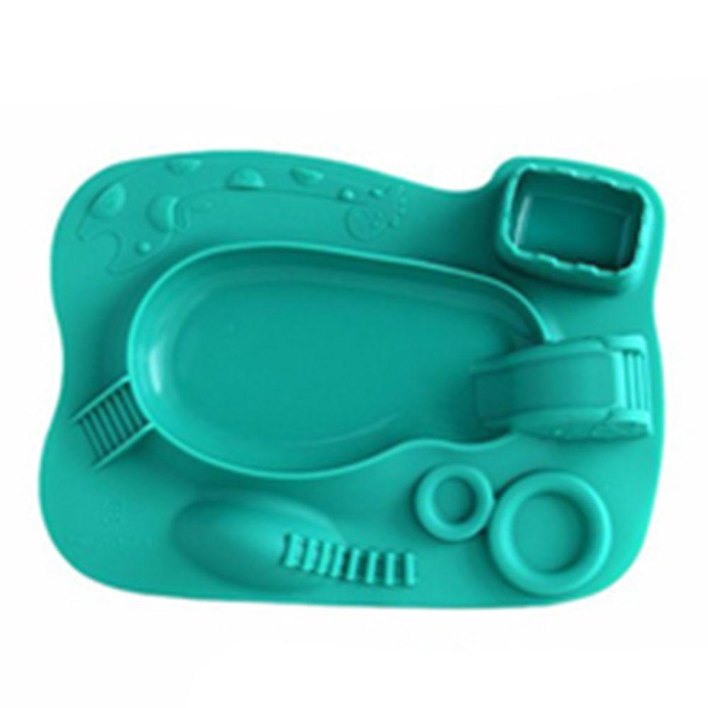MARCUS&MARCUS - 動物樂園遊樂造型餐盤-綠色