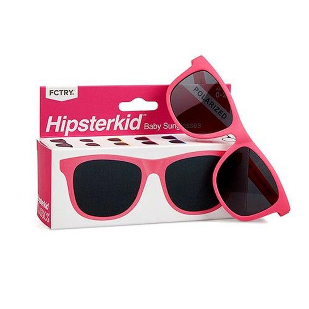 美國 Hipsterkid - 抗UV時尚嬰童偏光太陽眼鏡(附固定繩)-桃