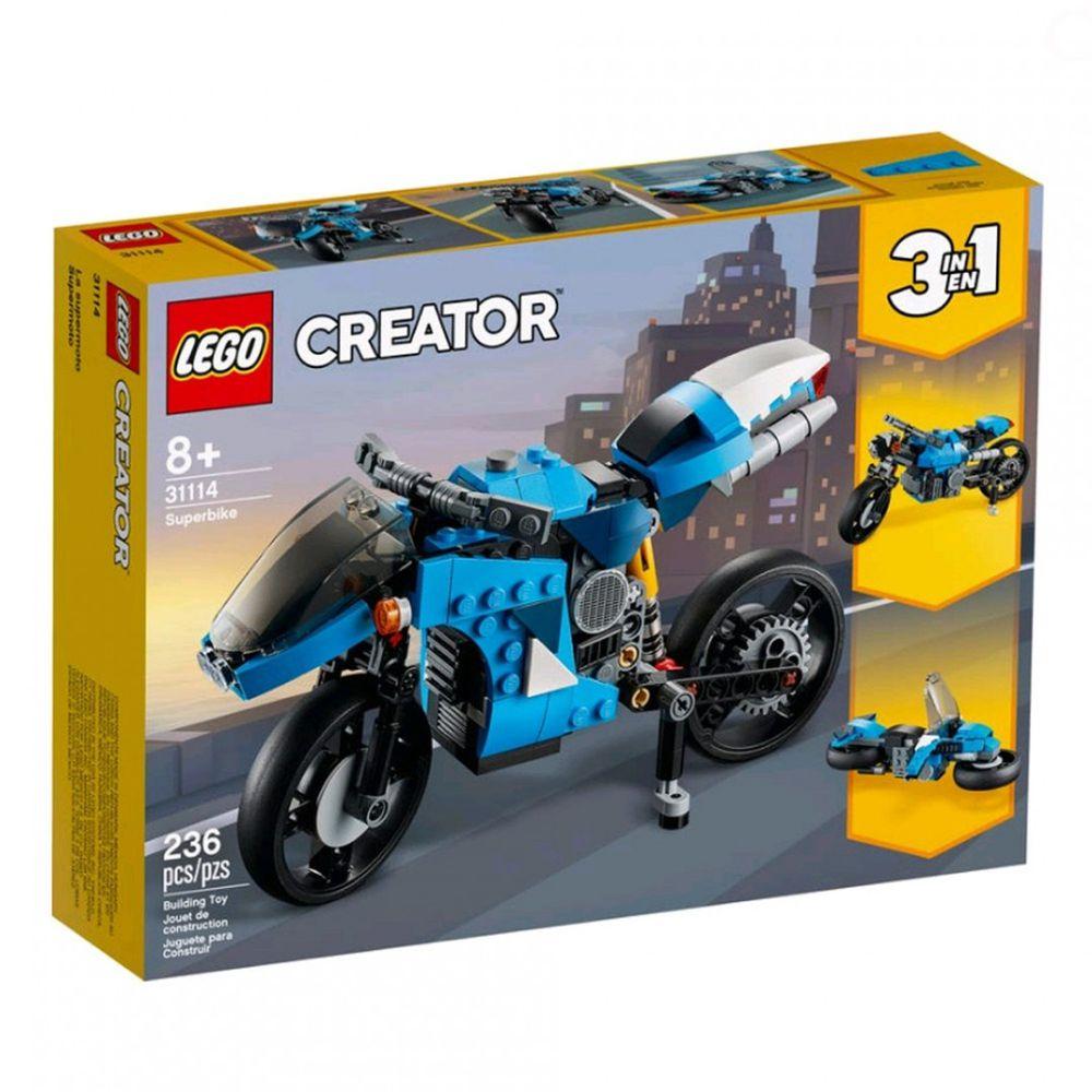 樂高 LEGO - 樂高積木 LEGO《 LT31114 》創意大師 Creator 系列 - 超級摩托車-236pcs