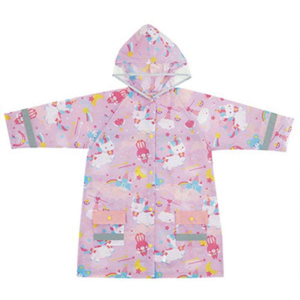 日本 SKATER 代購 - 兒童雨衣(附安全反光貼條)-粉嫩獨角獸 (110~125cm通用)