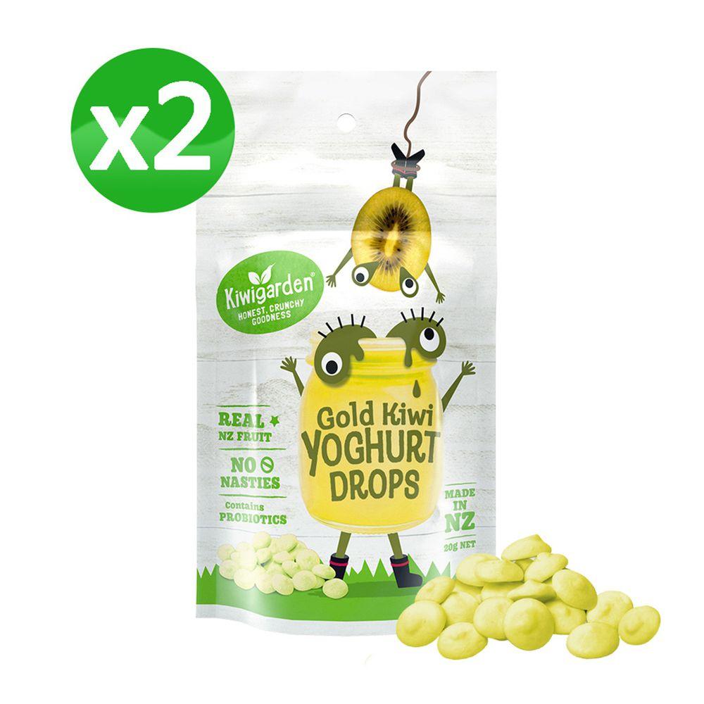 紐西蘭Kiwigarden - 益菌優格豆 黃金奇異果 2袋組-20g/袋