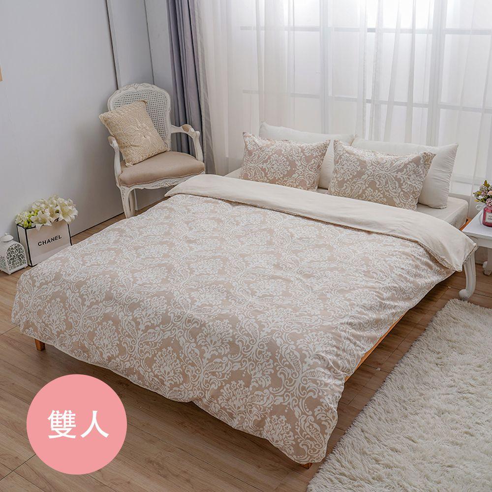 日本西村Westy - 法國時代-標準雙人被套3件組-象牙白-標準雙人款3件組-象牙白 (190x210cm, 45x75cm)-雙人被套x1 + 枕頭套x2