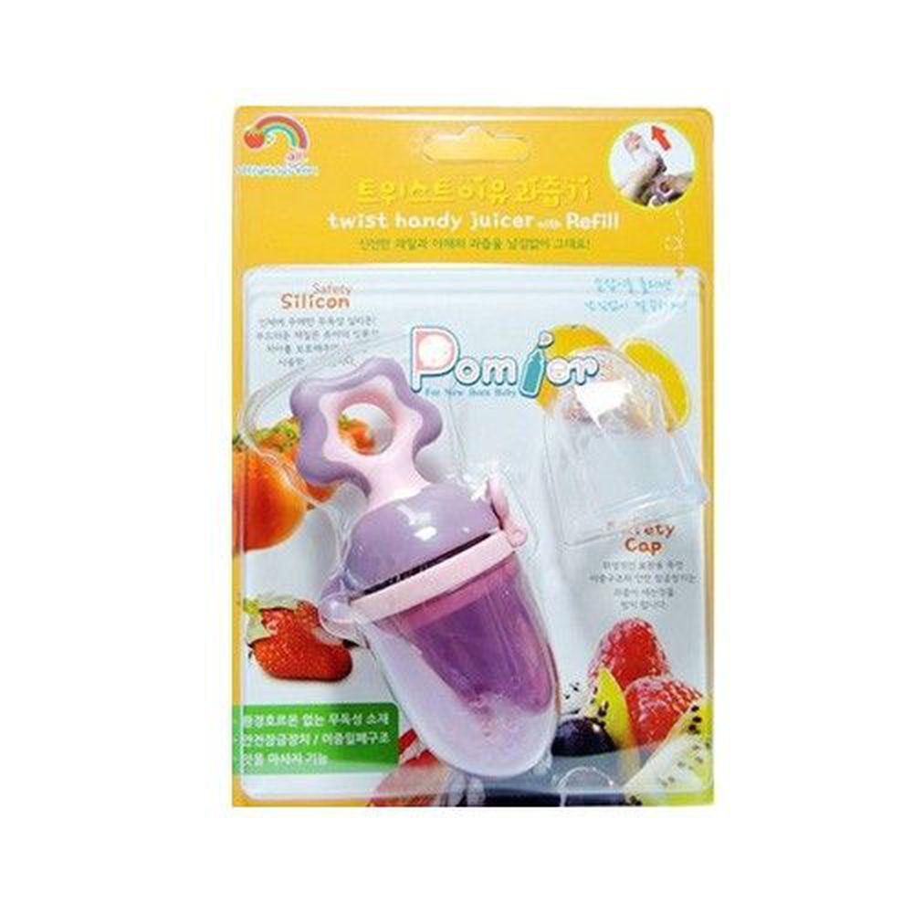 韓國 Pomier 朴蜜兒 - 旋轉水果棒-粉紫 (6個月以上 (附矽膠替換嘴配件x1))