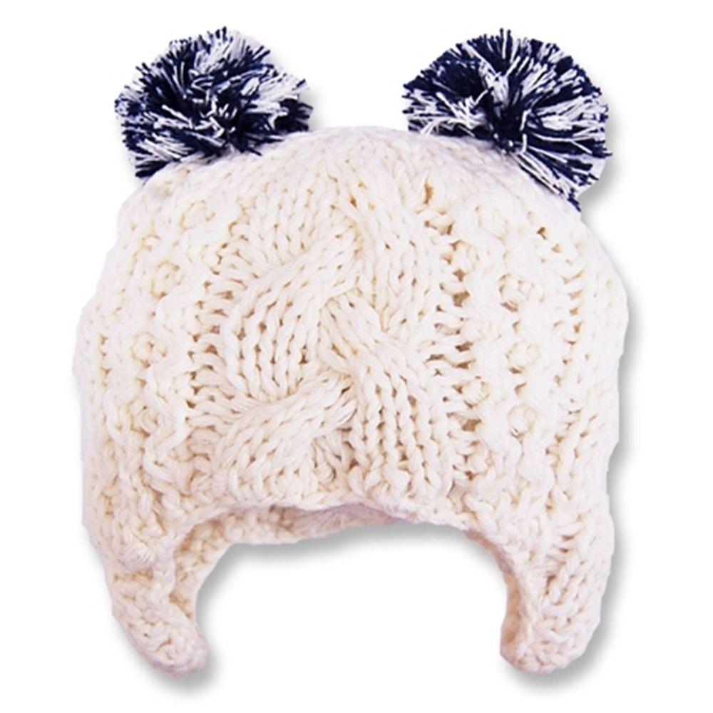日本 Connect M - 可愛造型冬帽-小童款-白底藍耳 (Free size(48~52cm))-83-6006