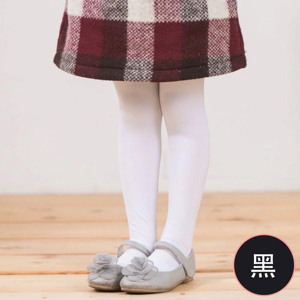 貝柔 Peilou - 女童彈性褲襪-純色(2雙組)-黑色