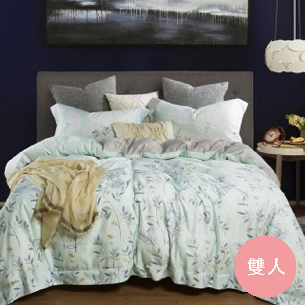 PureOne - 吸濕排汗天絲-春纖-雙人床包枕套組(含床包*1+枕套*2)