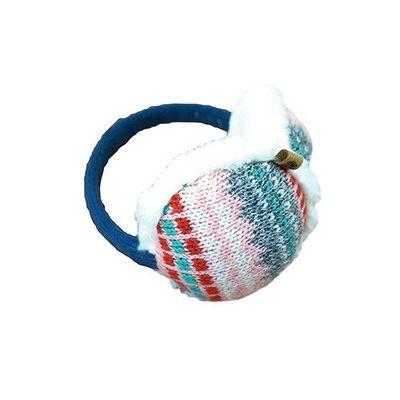 可收納式保暖耳罩(成人款)-北歐風圖騰-粉