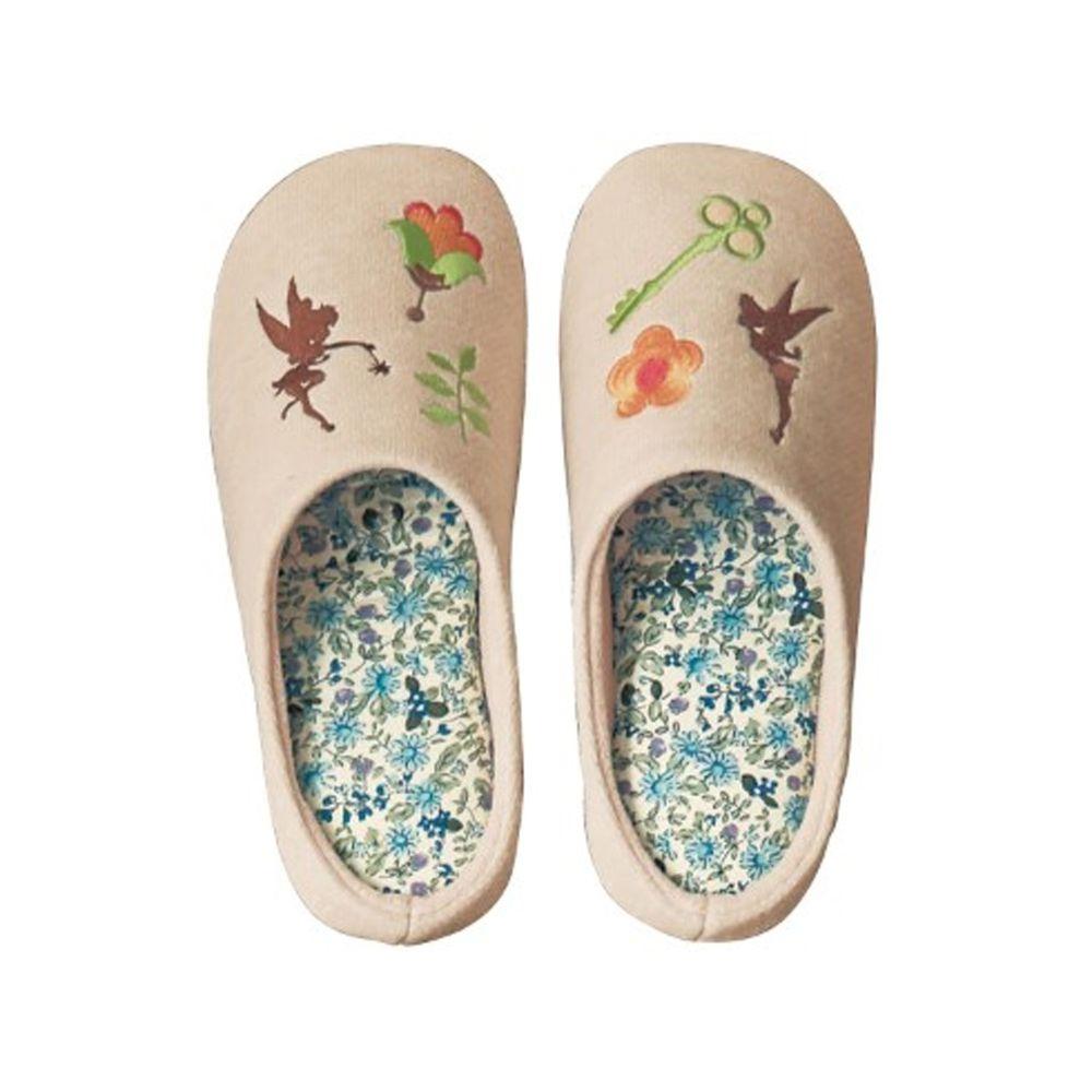 日本千趣會 - 迪士尼室內拖鞋(低反發)-小叮噹花園-米
