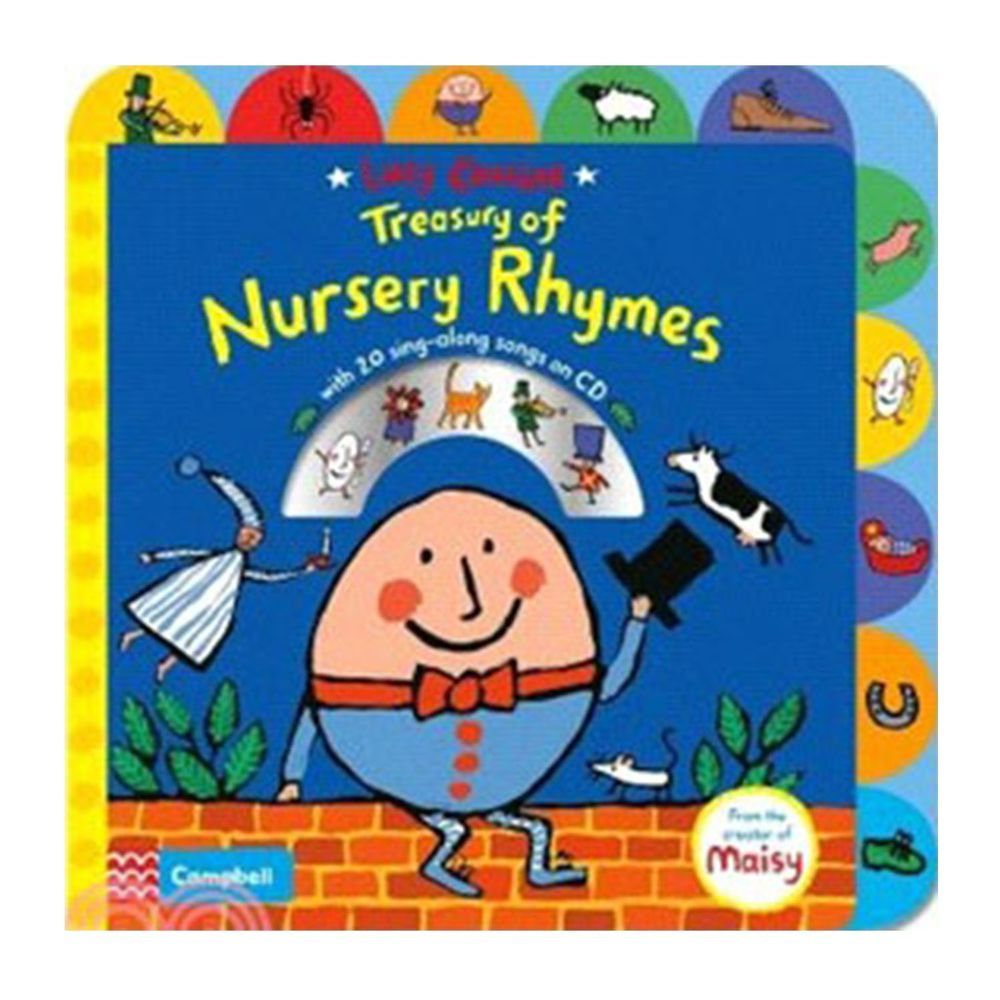 LUCY COUSINS TREASURY OF NURSERY RHYMES/硬頁書+CD