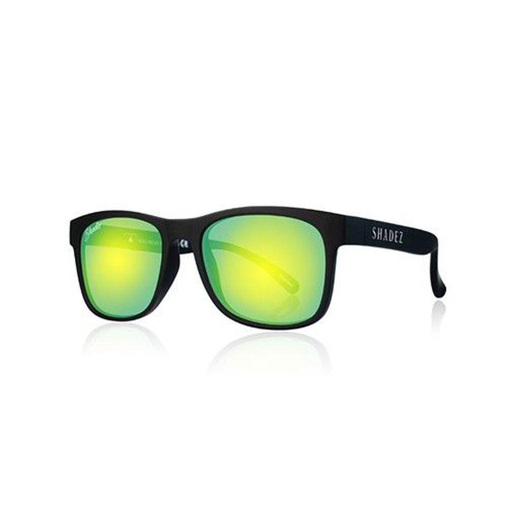 SHADEZ - 兒童偏光太陽眼鏡-黑框湖水綠