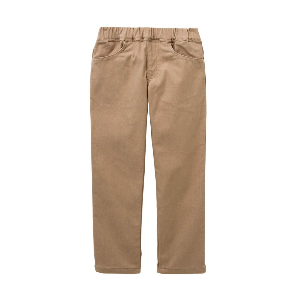 日本千趣會 - GITA 高彈性好動直筒口袋長褲-杏