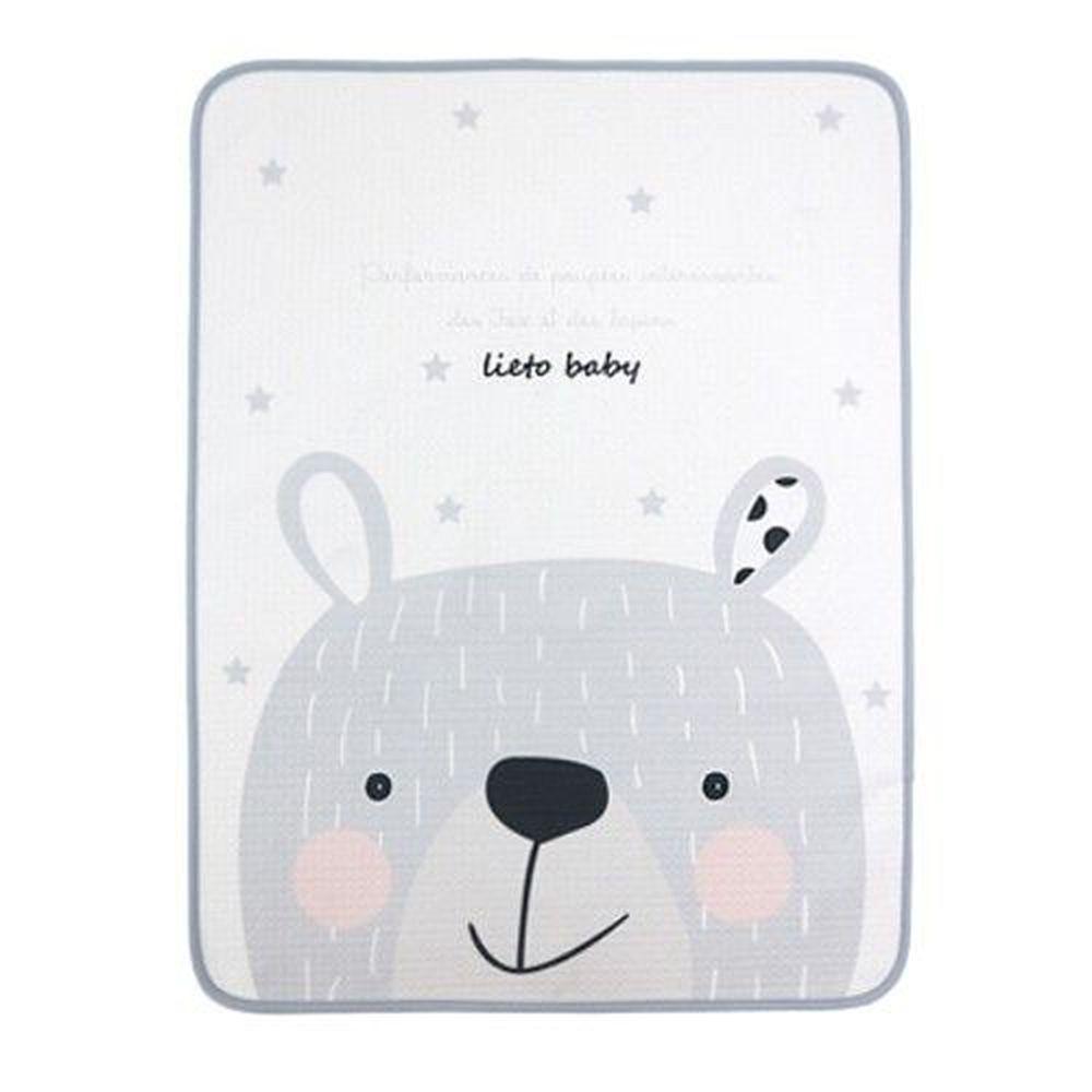 韓國 Lieto baby - 童話風有機棉防水墊-星星大熊 (50*60cm)