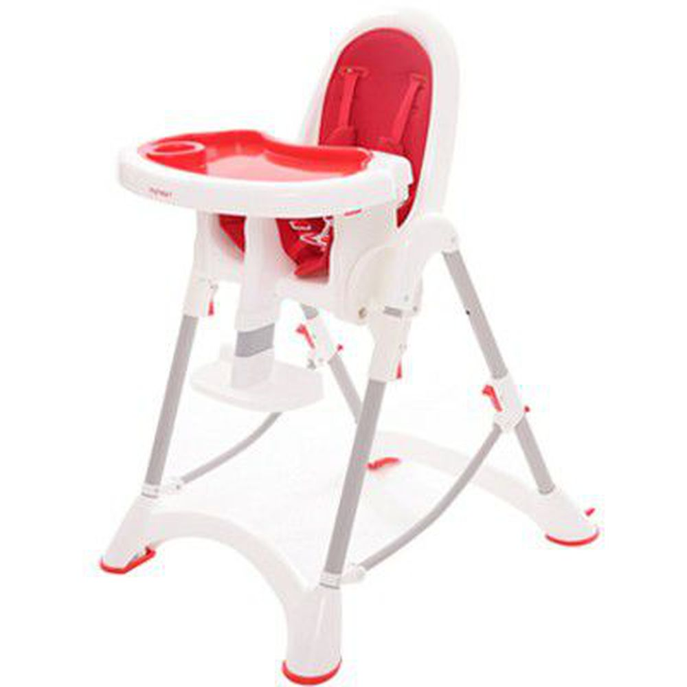 myheart - 折疊式安全兒童餐椅-蘋果紅