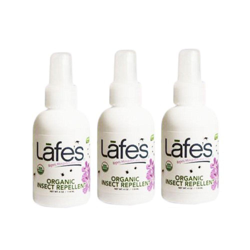 美國 Lafe's organic - 有機全家防蚊液-118ml*3入