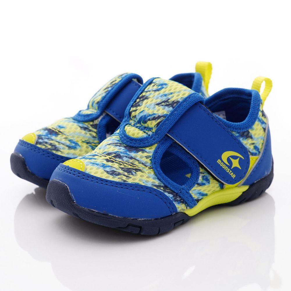 Moonstar日本月星 - 機能抗菌涼鞋款(寶寶段)-藍黃