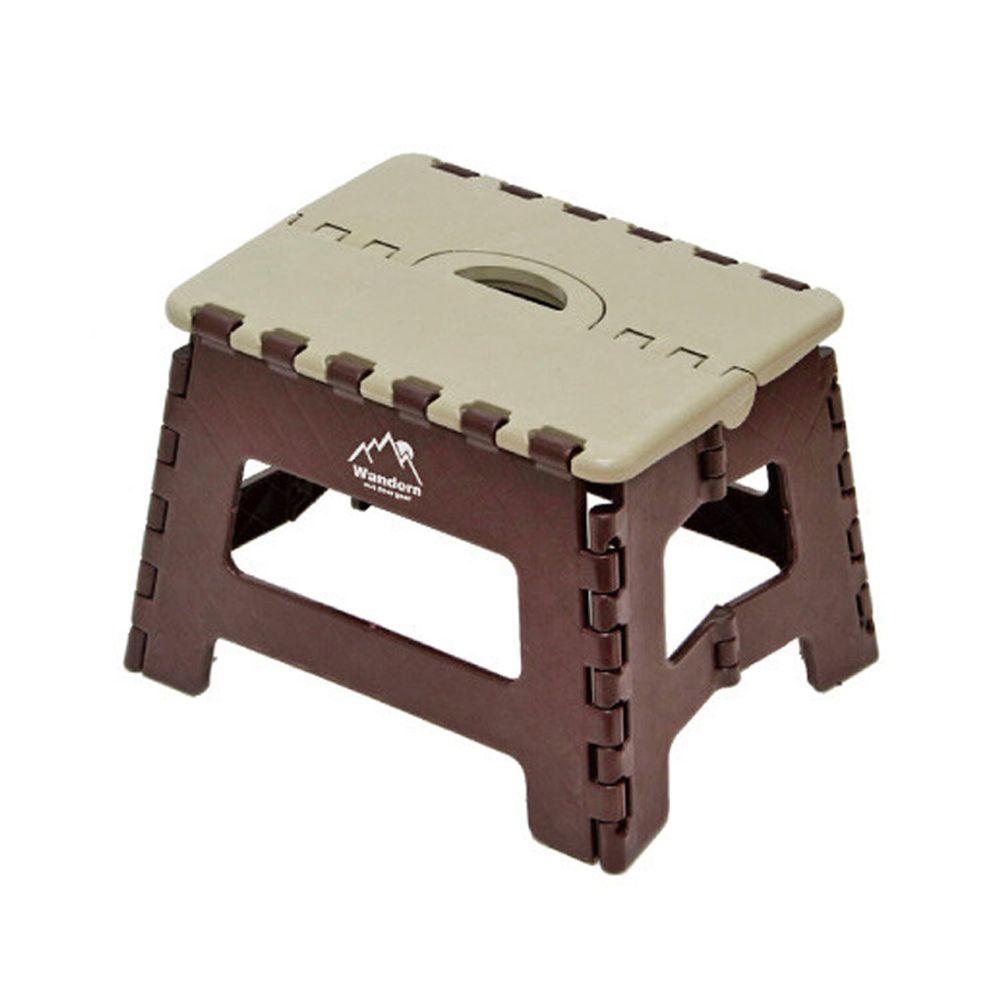 日本丸和 - 輕巧折疊椅(耐重150kg)-咖啡 (29x22x22cm)