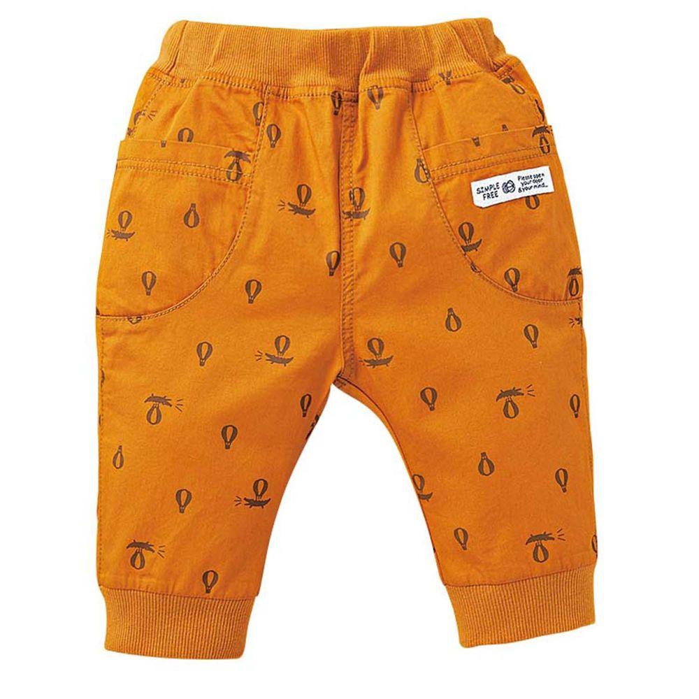 akachan honpo - 男7分馬褲-芥末黃色