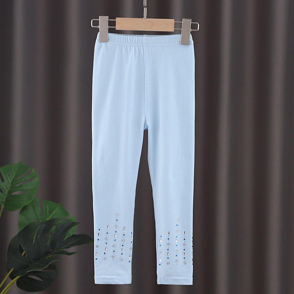 修身造型內搭褲-藍色