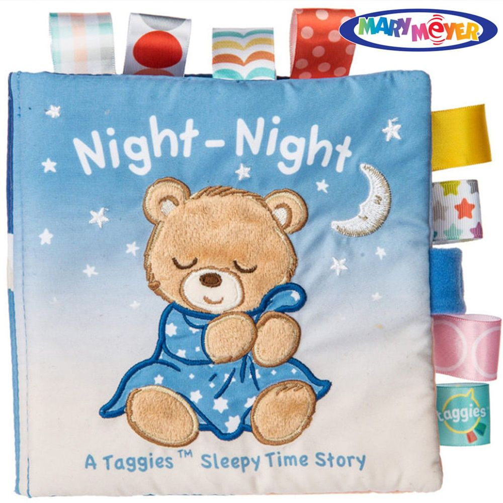 美國 MaryMeyer 蜜兒 - Baby標籤布書系列-晚安熊
