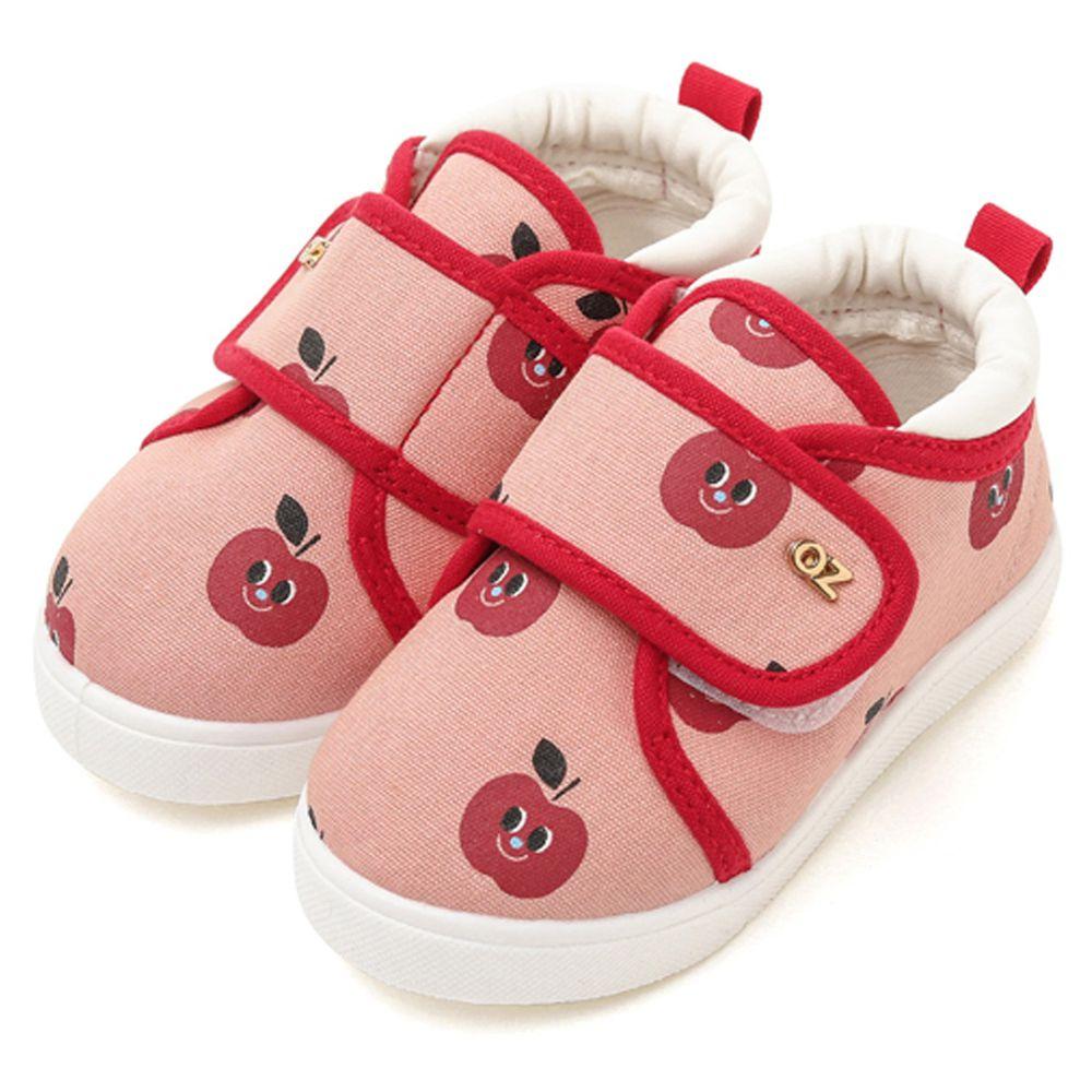 韓國 OZKIZ - 魔鬼氈兒童休閒鞋/室內鞋-蘋果