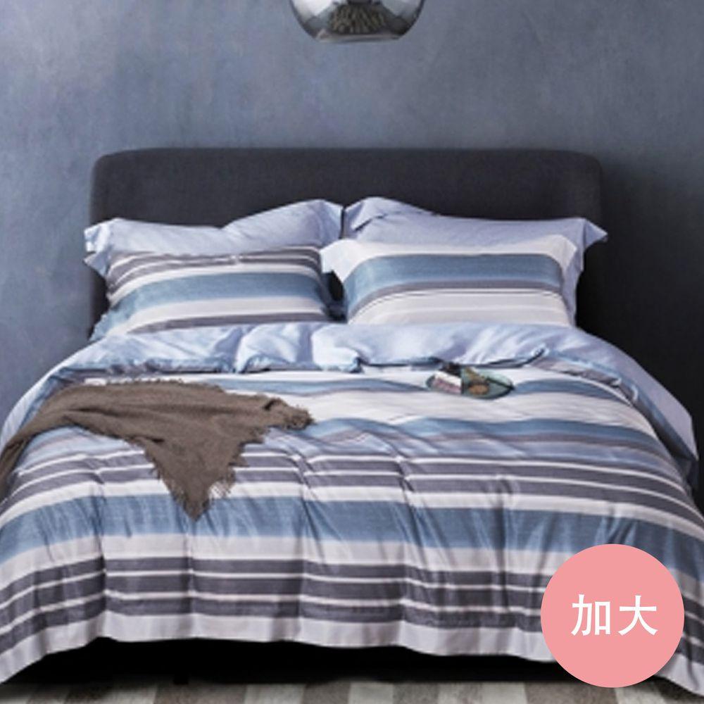 PureOne - 吸濕排汗天絲-自由心情-加大床包枕套組(含床包*1+枕套*2)