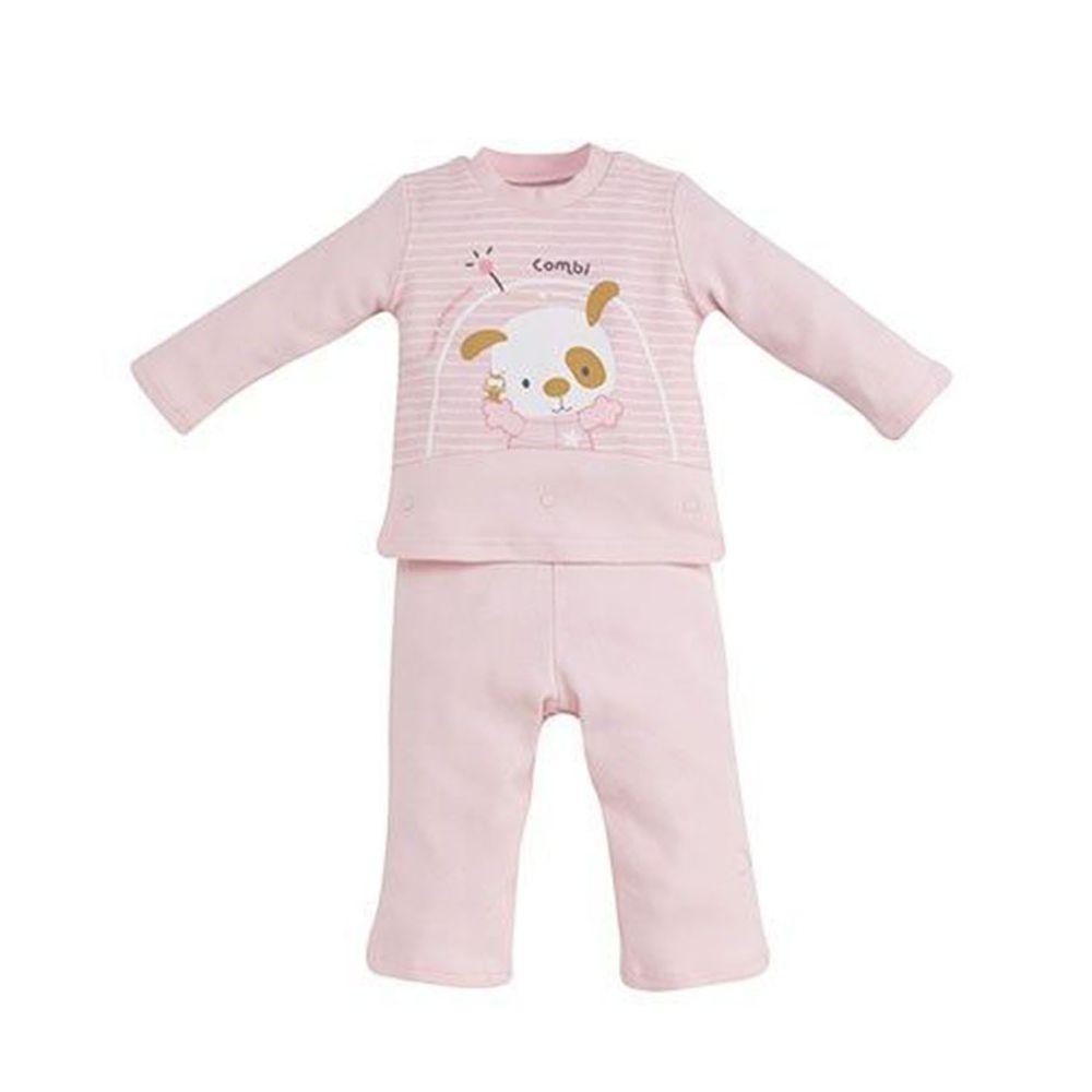 日本 Combi - 側開套裝(純棉)-太空冒險-粉色