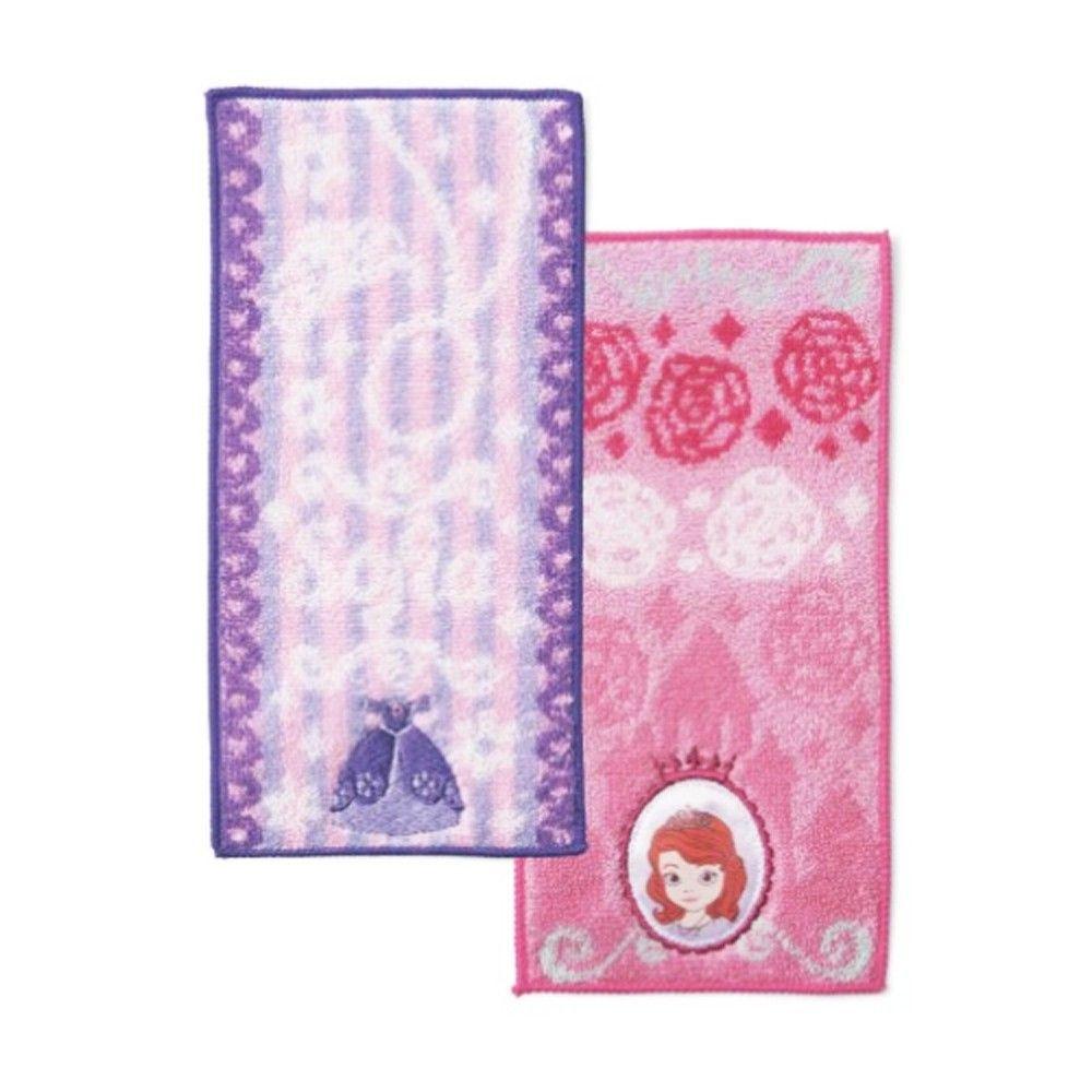 日本代購 - 長方形小手帕/毛巾兩入組-蘇菲亞 (10×20cm)