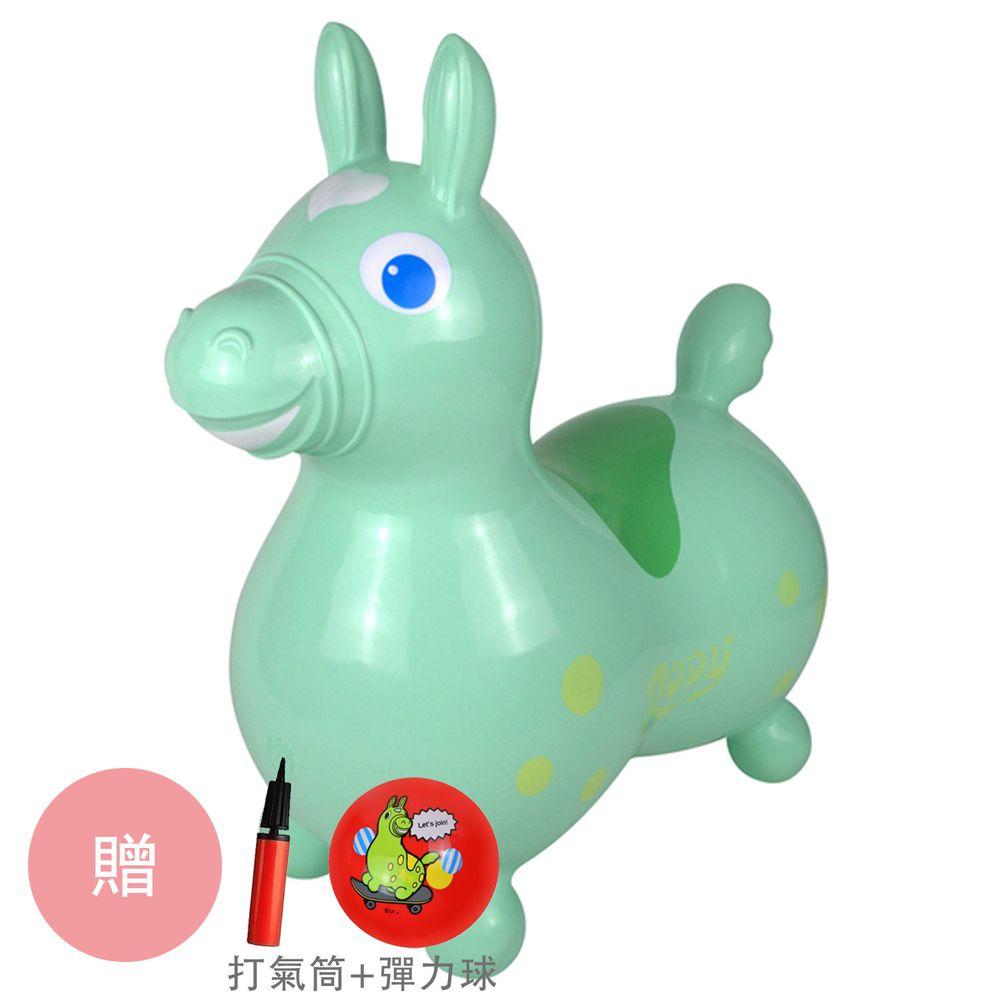 RODY - 正版公司貨-義大利Rody跳跳馬-粉綠-贈打氣筒&Rody卡通彈力球