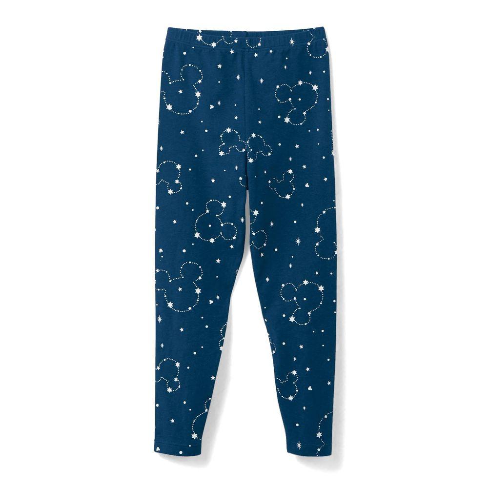日本千趣會 - 95%棉 (兒童) 迪士尼發熱褲-滿版星空米奇-深藍