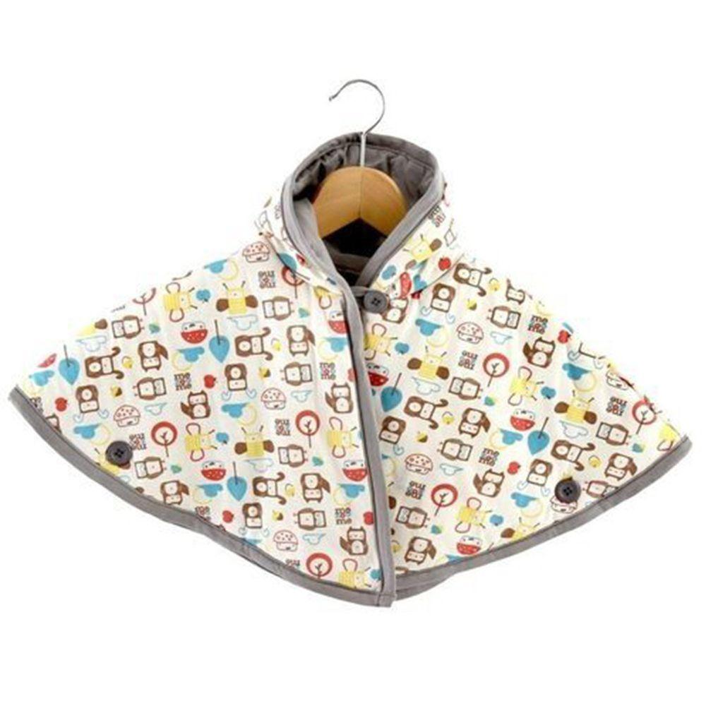 以色列 mezoome - 有機棉精品床寢-斗篷 (保暖外套)-大象灰-1-4Y