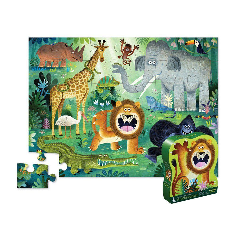 Crocodile Creek - 大型地板拼圖系列-森林動物-36片-3歲以上