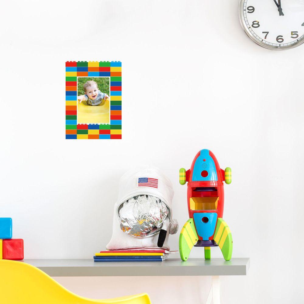 日本 TOKYO STICKER - 日本製 質感相框壁貼-樂高積木 (3.5x5吋相片適用)