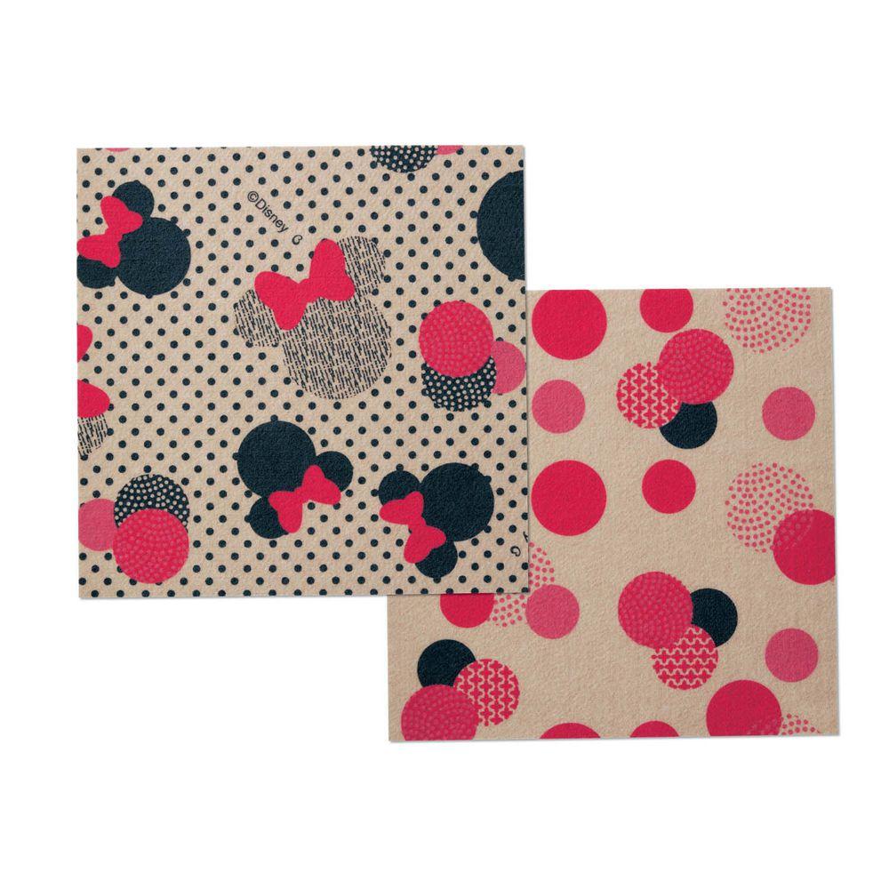 日本千趣會 - 迪士尼 日本製室內輕薄地毯(可機洗)-米妮 (30x30cm)-各色2枚(共6枚)