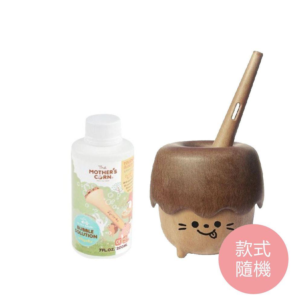 韓國 Mother's Corn - 小木森林兒童泡泡玩具(款式隨機)+兒童專用不易破泡泡補充罐(200ml)-團購專案