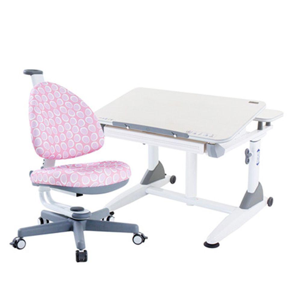 大將作 kid2youth - G2C+XXS成長桌椅組(BABO C椅)-粉紅