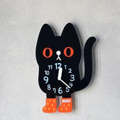 韓國NINO HapPy TimE童趣時鐘-小黑貓吉吉 (24.5*35cm)