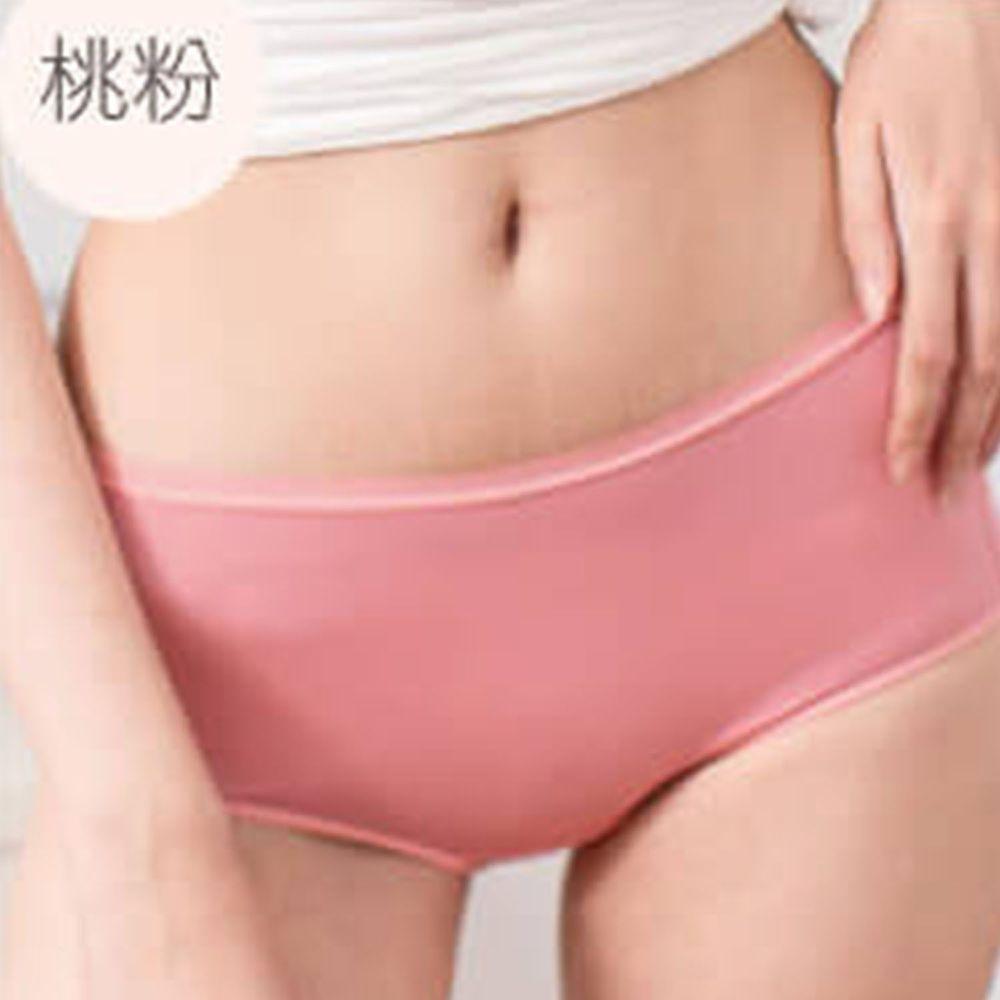 貝柔 Peilou - 天絲棉舒膚平衡女三角內褲-中腰-桃粉
