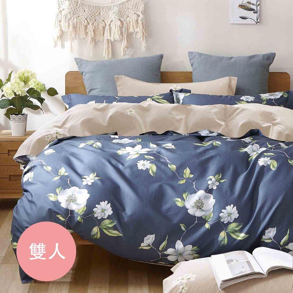 PureOne - 極致純棉寢具組-追愛-雙人三件式床包組