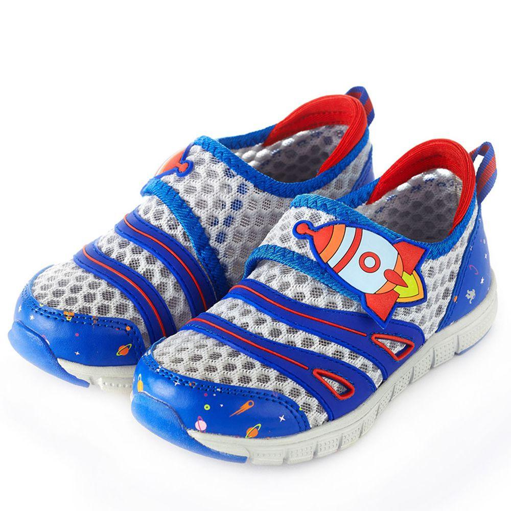 Dr. Apple - 機能童鞋-遨遊太空透氣休閒童鞋-藍