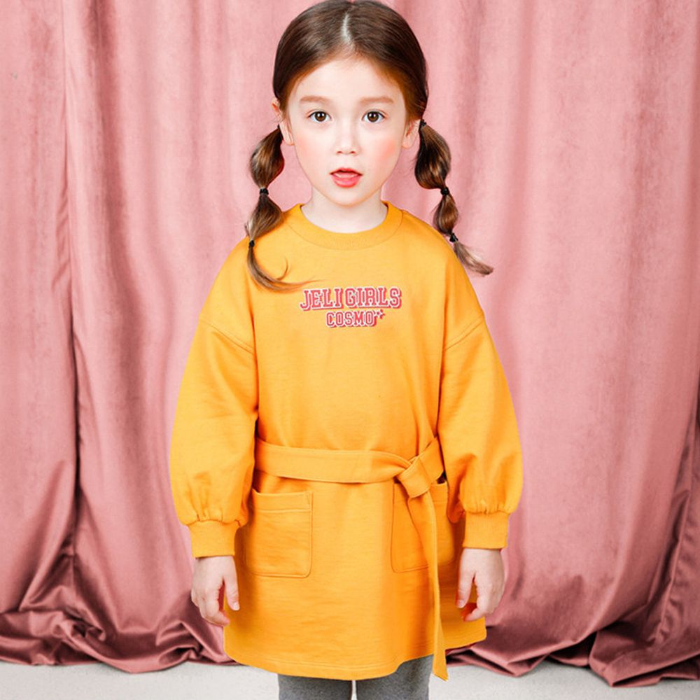 韓國 Jelispoon - 腰帶長版T